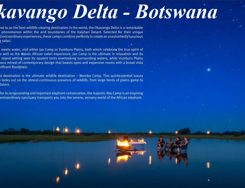 Unashamed Wild Luxury – Okavango Delta