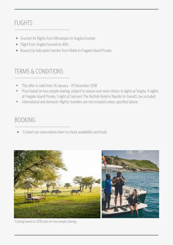 Singita Grumeti and Fregate Island   African Safaris with Taga