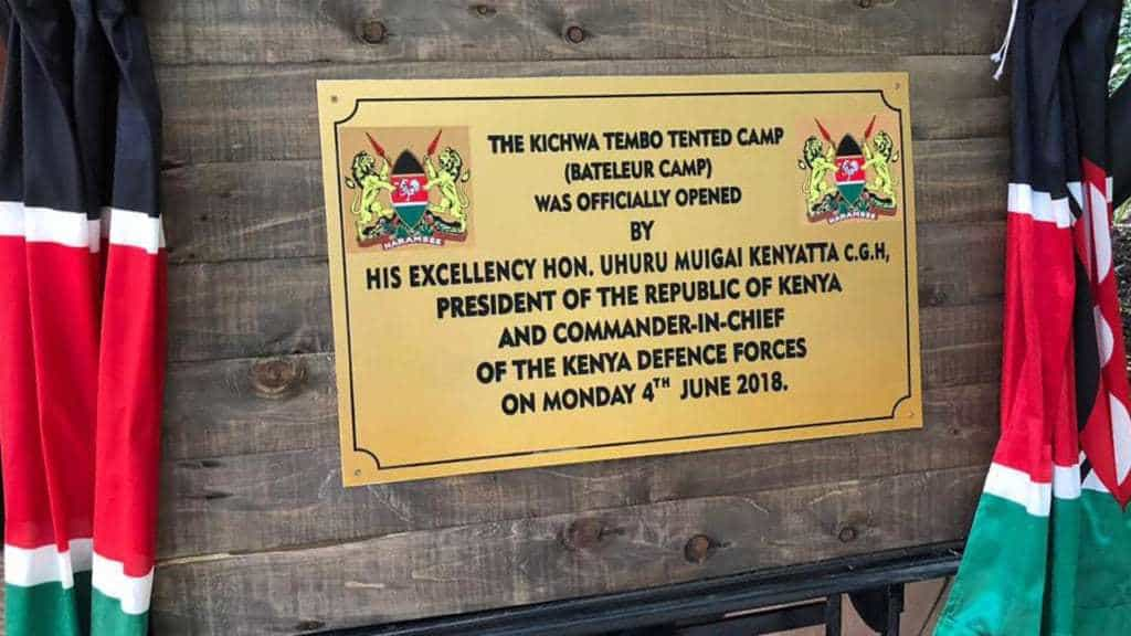 Officially Opening Bateleur Camp Kichwa