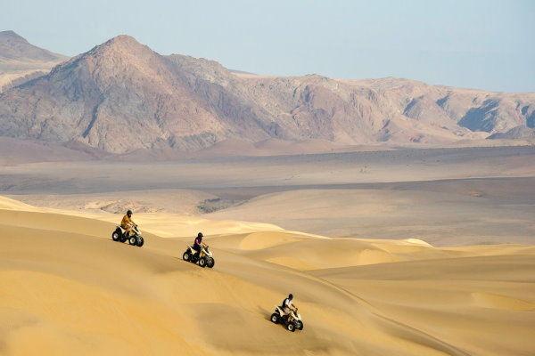 African Safaris Quad Biking on the Sand Dunes