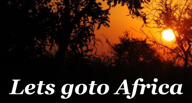 Lets goto Africa