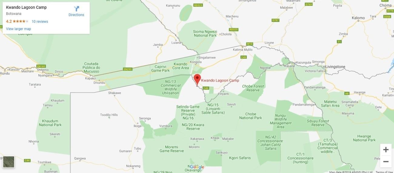 Kwando Reserve Map