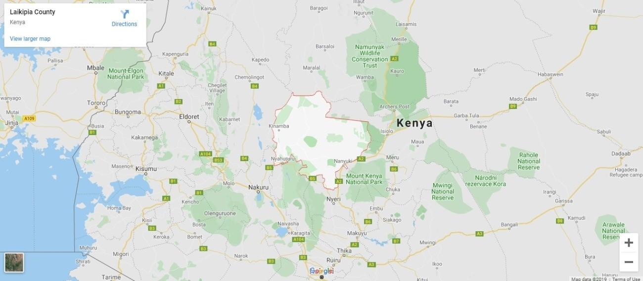 Laikipia Plateau Map