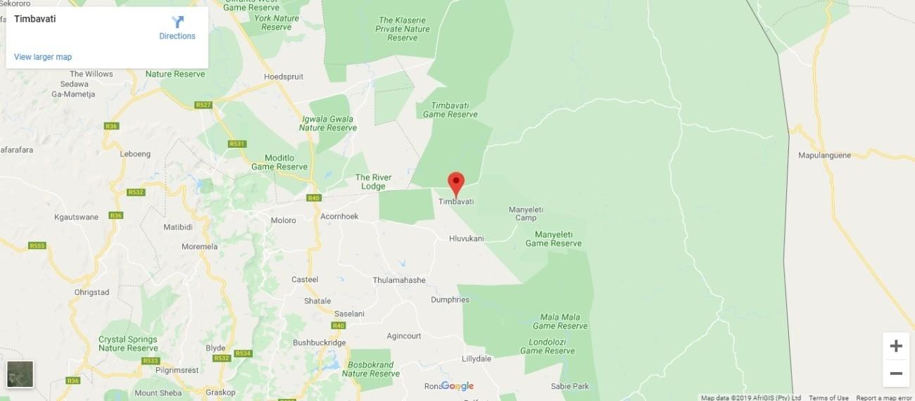 Timbavati Game Reserve Map
